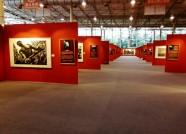 """中国画都画廊周又增新看点 书法家在""""最大宣纸""""上秀绝活"""