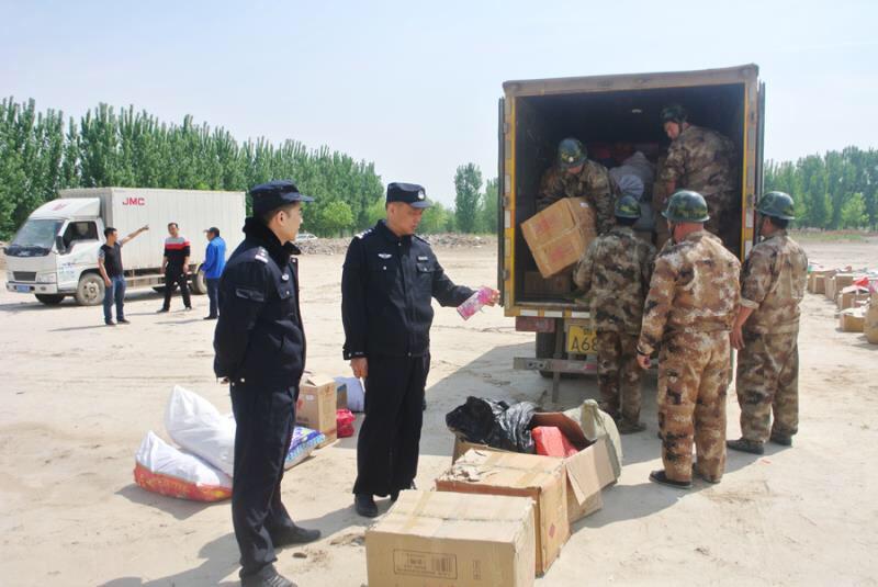 收缴的鞭炮去哪里了?济南天桥警方一次性销毁500余箱