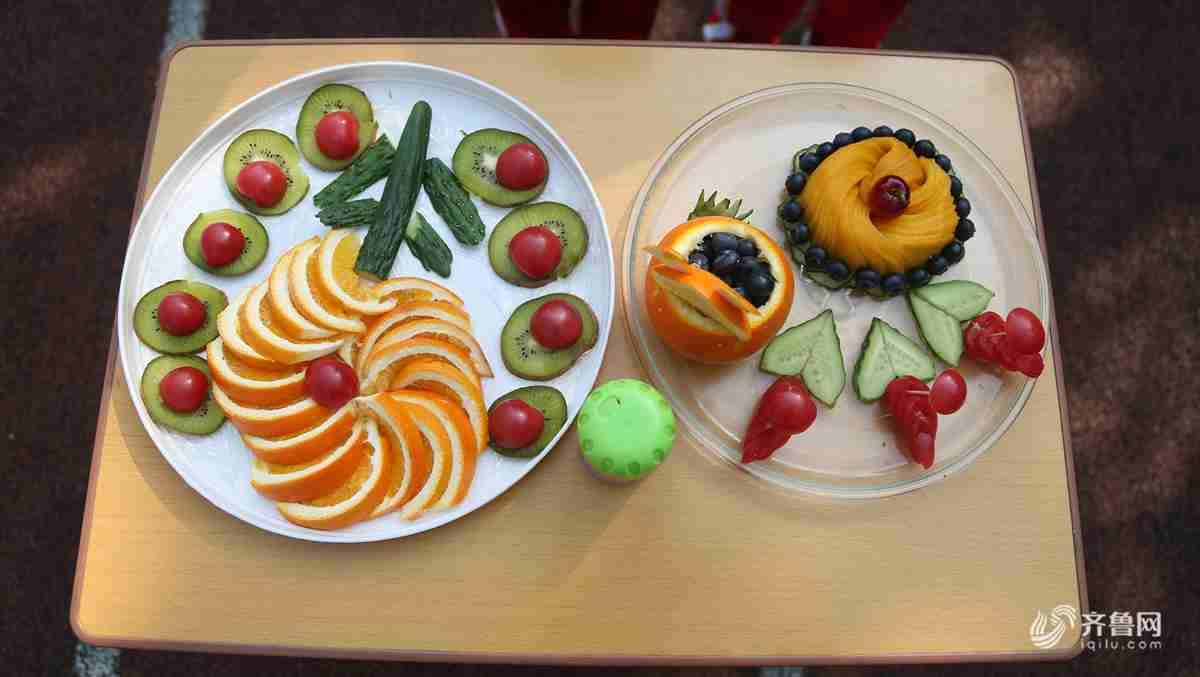 发散思维拼创意 看济南百名小学生玩转水果冷盘