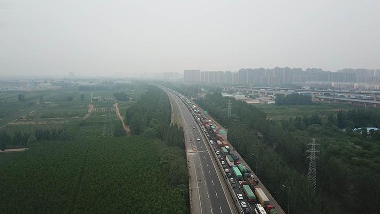 受周末返程高峰影响 济南绕城高速附近路段拥堵
