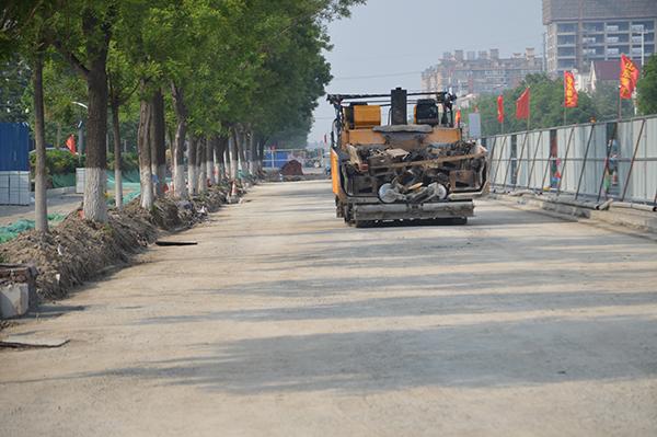 柳泉路升级改造工程淄博高新区段快速推进 确保9月底全线竣工