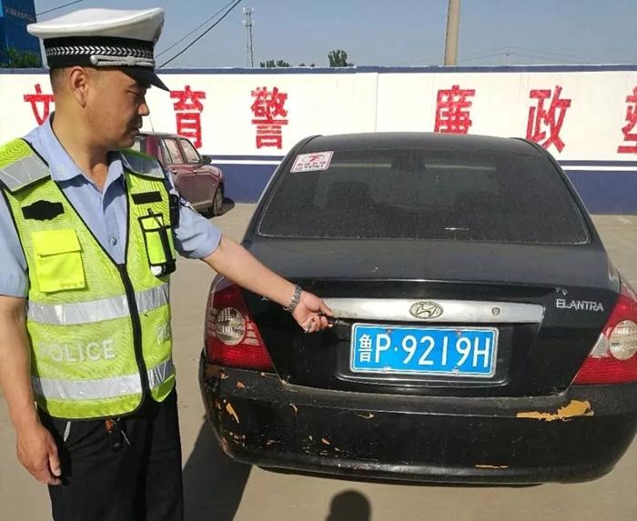 """稽查布控系统显""""神威"""" 莘县交警快速查获5辆假套牌车"""