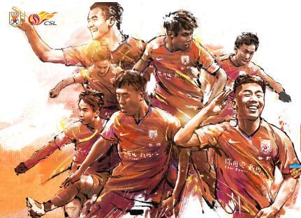 鲁能战权健官方海报:加倍努力,七名球员成主角