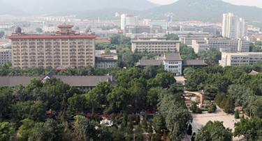中国(腾博会娱乐平台部)留学服务中心山东师范大学出国留学培训基地成立
