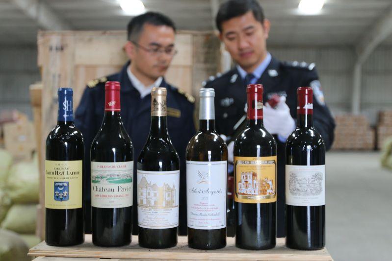 青岛查获336瓶走私高档红酒 涉拉菲等知名品牌