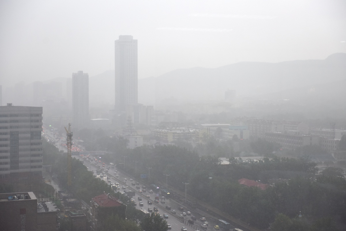 说好的大雨来了! 烟雨黑云笼盖济南城