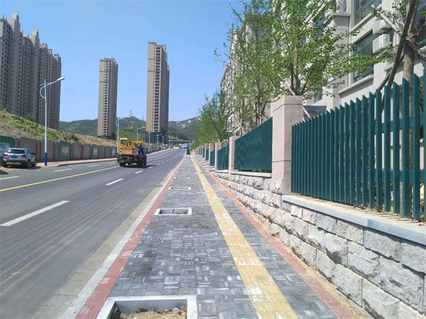 @威海人 这些路段的人行道改造工程提前完工