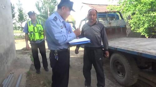 阳信男子无证驾驶套牌报废车 巧遇真主报警被抓