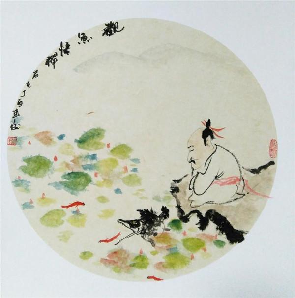 济南诗意女画家手绘二十四节气水墨画,灵感来了一晚上画6幅