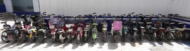 聊城警方破获系列盗窃电瓶车案,20辆被盗车等待认领