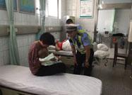 15个月大幼童断指 东营潍坊两地交警接力送医