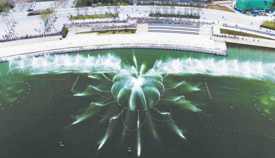 注意!孝妇河湿地公园喷泉喷放时间有调整