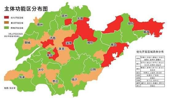 """山东实施""""三控三提""""战略 2020年国土开发强度不超18.45%"""
