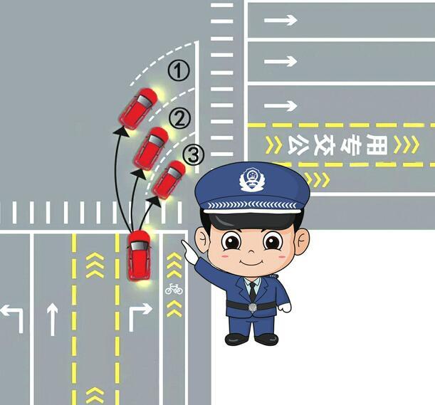 济南首次增设右转待行区 提醒:进入路口再分道,否则或被抓拍