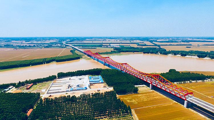 28秒航拍丨济南长清黄河大桥试通车!开车到聊城只需40分钟