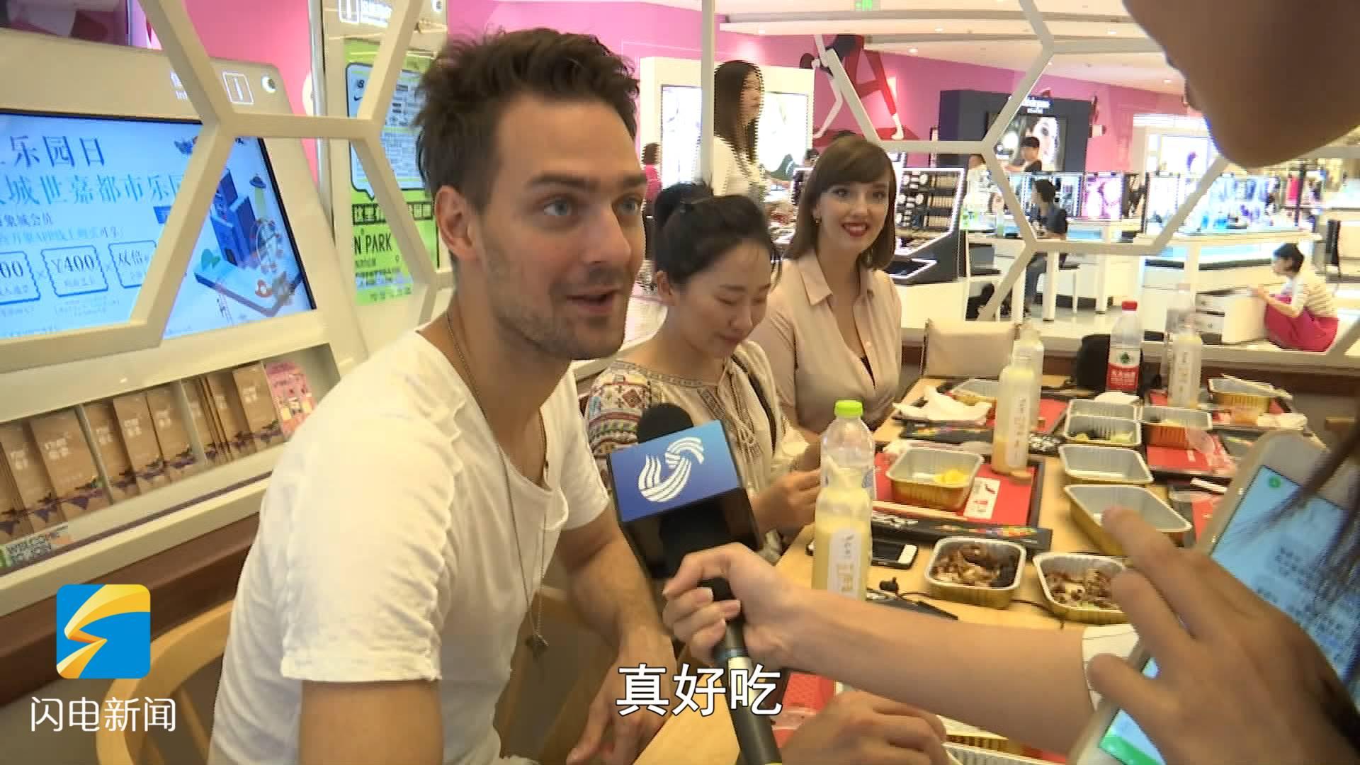 40秒丨青岛首家无人餐厅开业:办公室点餐 密码柜里找美食