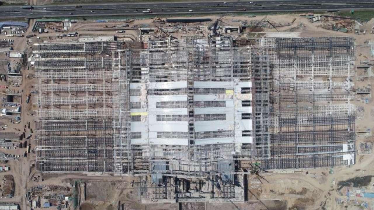 济青高铁红岛站完成钢结构施工 青岛海陆枢纽再升级