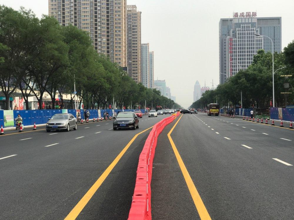 淄博两大主路实现通车 柳泉路主路限速30公里/小时