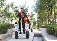 泰山广场12处台阶道口进行设计改建 机动巡逻保安全