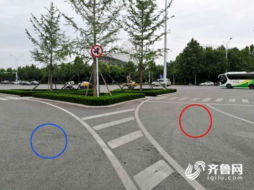 """潍坊潍城区这个五岔路口该怎么走?""""标准答案""""在这里"""