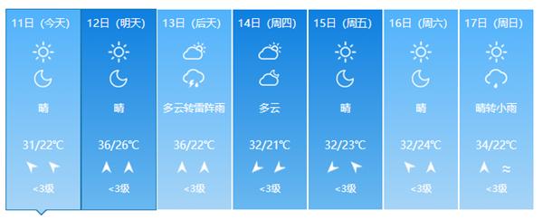 济南新中考三天高温雷雨组团来袭 最高温36℃