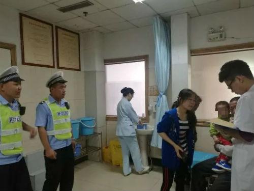 幼儿误服高锰酸钾 日照开发区交警紧急护送就医
