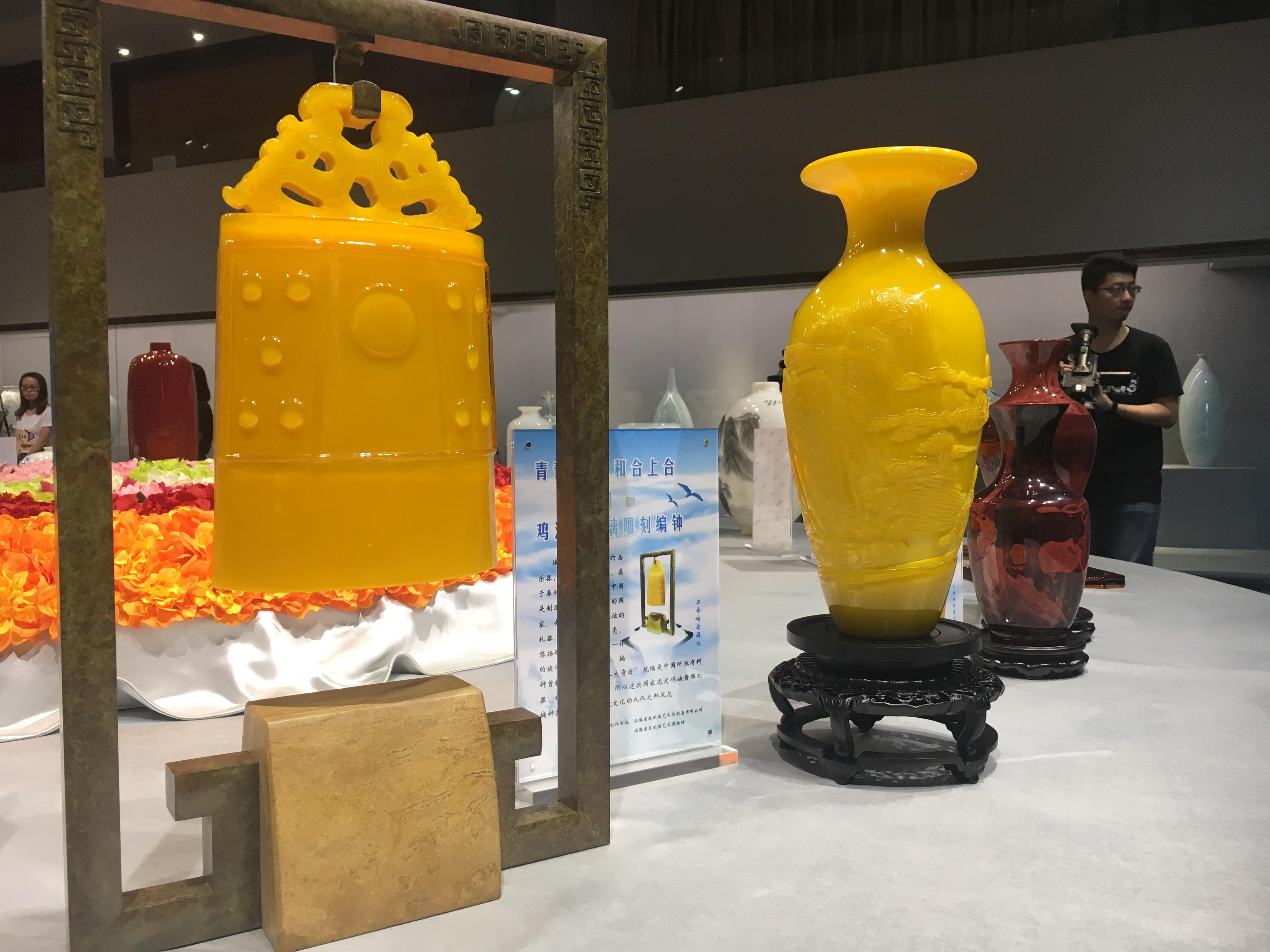 惊艳!上合峰会上的这些餐具、摆件均来自淄博