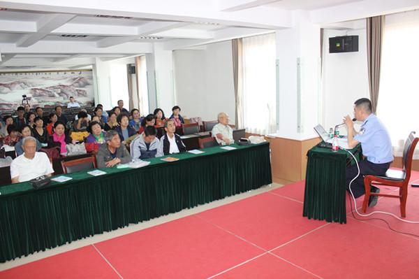 蓬莱:保护老年人权益 公安部门开展防诈骗知识讲座
