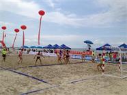 全国沙滩手球锦标赛25日在威海南海新区开赛