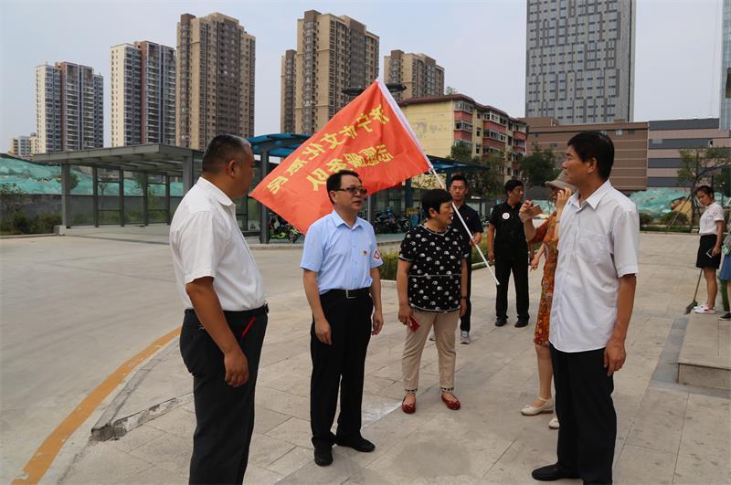 济宁市文广新局开展创建全国文明城市志愿服务主题党日活动