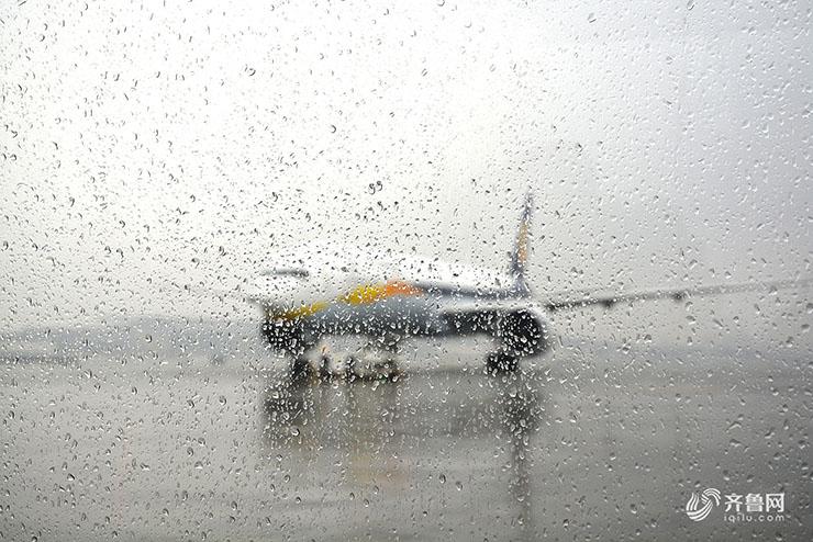 山东迎强降雨 济南遥墙、青岛流亭机场飞机大面积延误