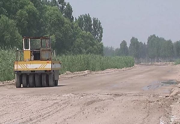 博兴麻大湖公园西区主干道正加速建设 湿地公园面积进一步扩大