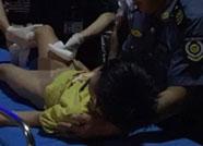 滨州女司机带娃晚上走高速发生事故 好心人爱心施救