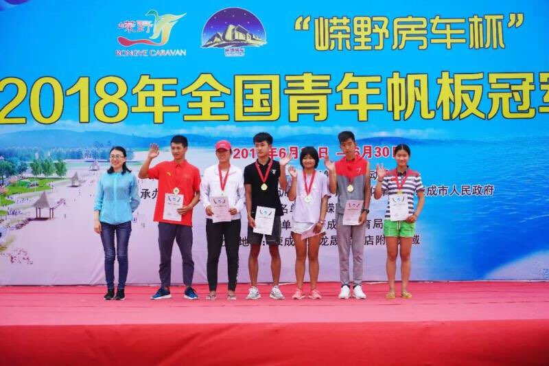 全国青年帆板冠军赛淄博市体校李溪萌获冠军