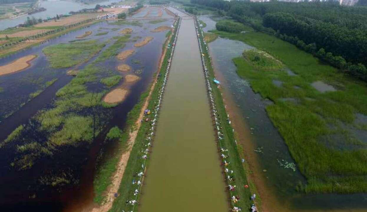 2018年第六届中国大运河(台儿庄)河钓大赛开钓