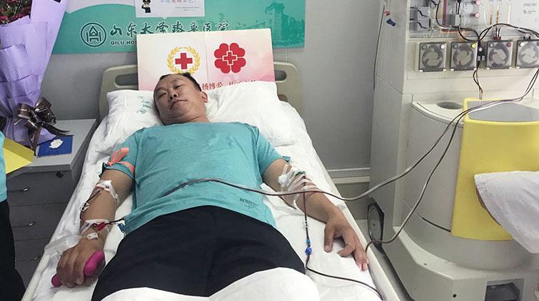 退伍军人,不退英雄本色!记济南市第54例造血干细胞捐献