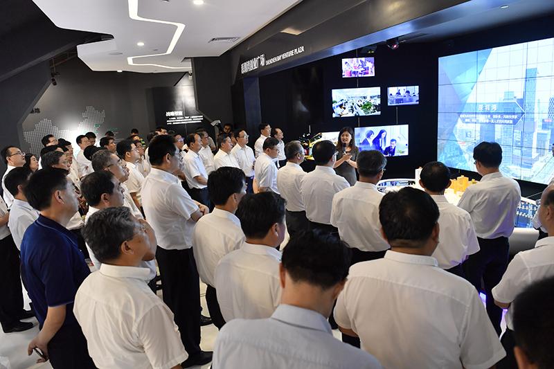 高清组图|山东省党政考察团赴深圳湾创业广场考察学习