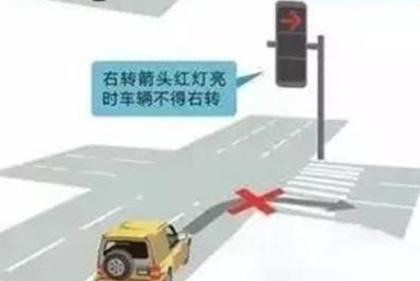 注意!荣成水门口路设有右转箭头灯 红灯亮时莫右转