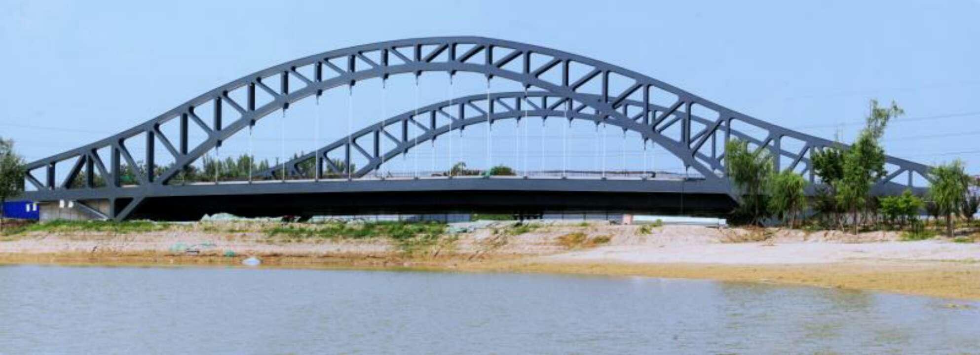 淄博高铁新城站东路桥主体工程完成