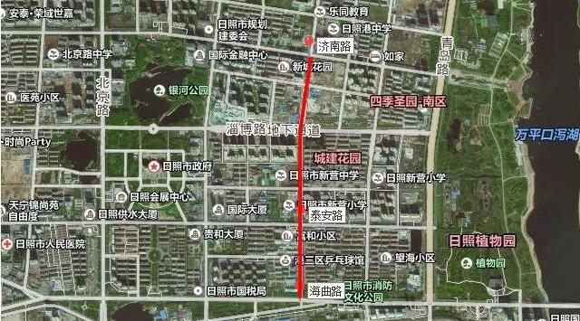 日照威海路(济南路-海曲路)段主车道西半幅封闭