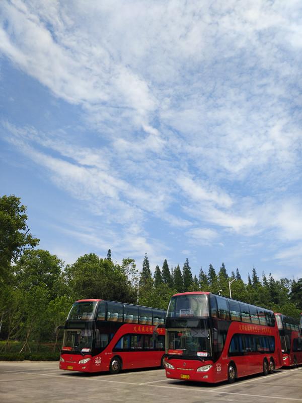 """青岛观光巴士""""蓝色畅想线""""执行旺季发车时间"""