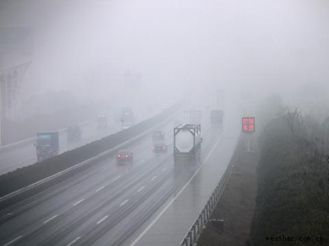 大雾袭城!京台高速枣庄段南行方向部分入口临时关闭
