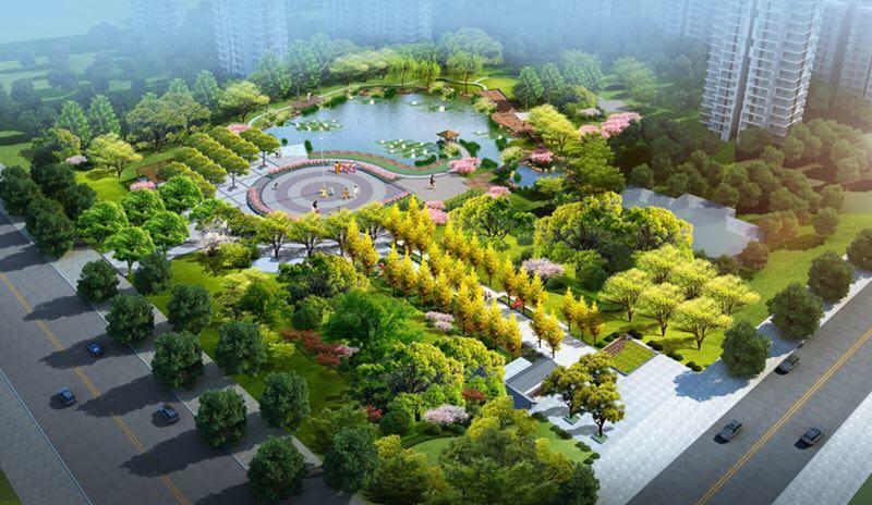 淄博高新区孙庄游园景观工程即将开建 总面积26500平方米
