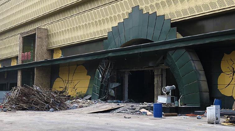 又一个80、90后的回忆落幕了!济南东方之韵KTV文东店拆除完毕
