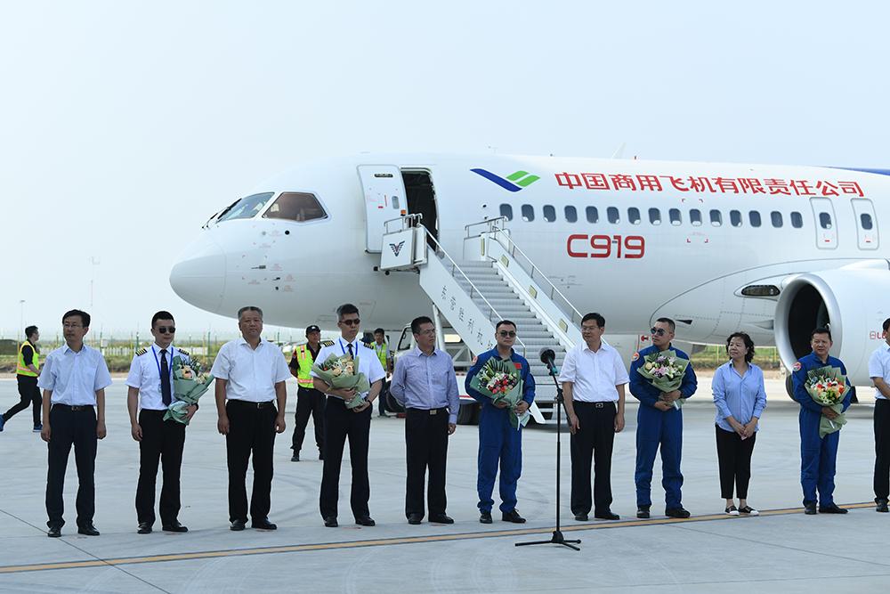 首次空中远距离转场飞行!国产大飞机C919上海转场东营成功