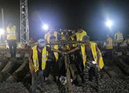 3000人深夜鏖战!山东东南沿海最大铁路枢纽现雏形