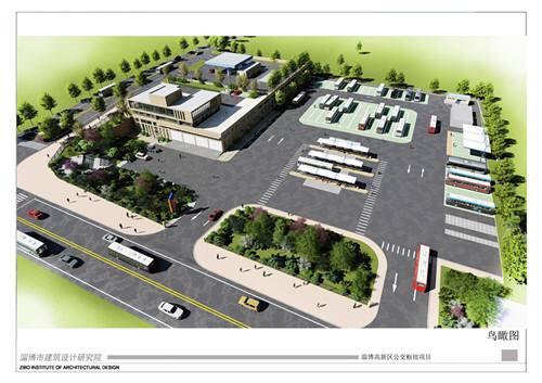 淄博高新区公交枢纽开工建设 建成后将承担6条线路运营任务