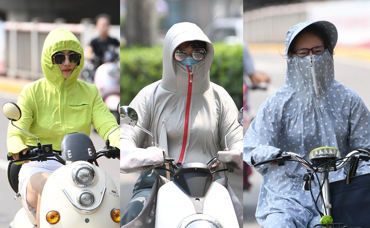 这不是冬天! 济南市民包裹严实出行成独特风景线