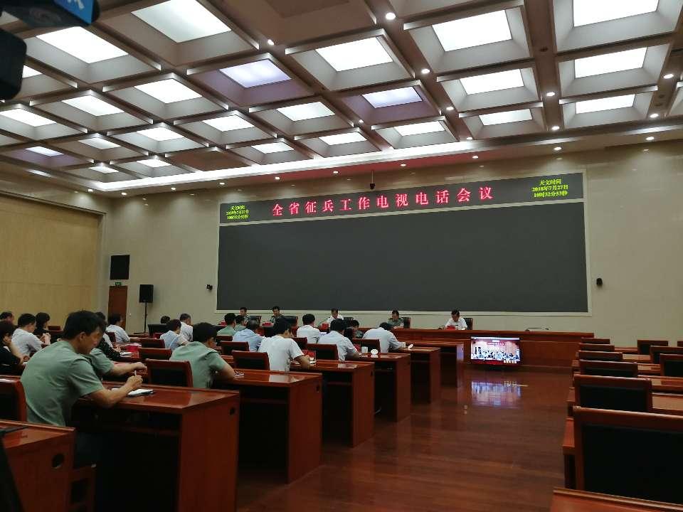 全省征兵工作电视电话会议在济南召开