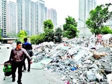 """桓台:建筑垃圾遗漏及乱倾倒 相关房地产开发商或物业将记""""不良"""""""